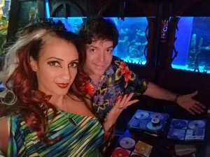 Marina the Fire Eating Mermaid and DJ Tiki Chris at the Wreck Bar in Fort Lauderdale